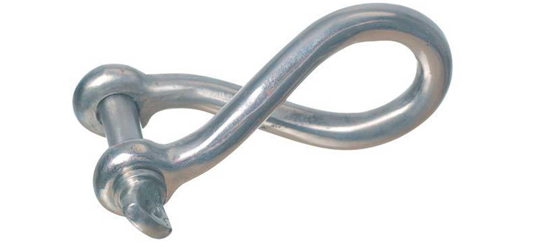 Sjækel vreden rustfrit stål 4 mm.