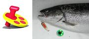 Scanlure Snap-on Diver Gul/rød 15 gram
