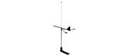 Hawk VHF mastetops Antenne med Vindindikator