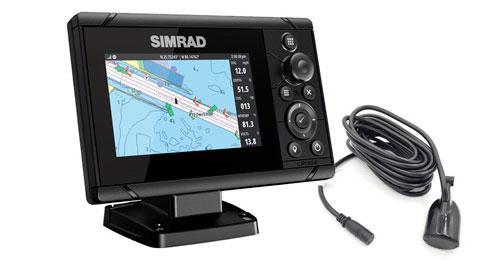 Simrad cruise 5″ med 83/200 hæktransducer