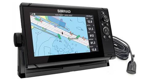 Simrad cruise 9″ med 83/200 hæktransducer