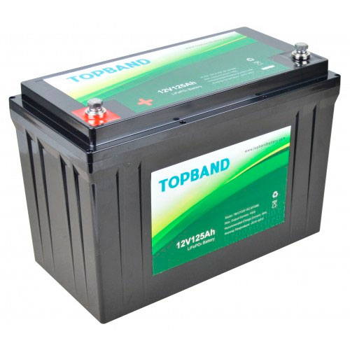 Topband Lithium batteri 12V 125AH BLUETOOTH