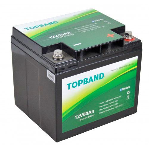 Topband Lithium batteri 12V 50AH BLUETOOTH