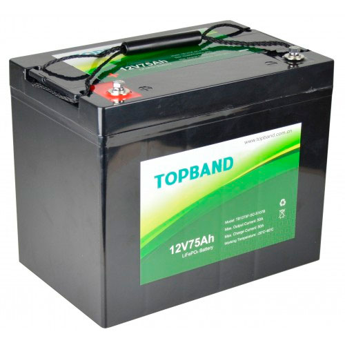 Topband Lithium batteri 12V 75AH BLUETOOTH